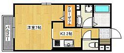 グランピエール瀬戸口[1階]の間取り