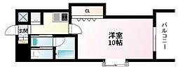 Osaka Metro御堂筋線 江坂駅 徒歩3分の賃貸マンション 10階1Kの間取り