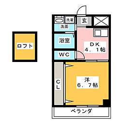 VIVRE IKOMA[4階]の間取り