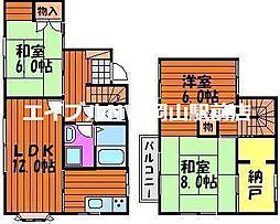 [一戸建] 岡山県岡山市中区関 の賃貸【/】の間取り