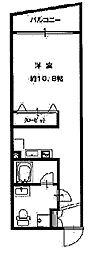 OM玉造III[4階]の間取り