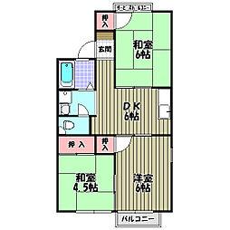 パークハイツ加太[2階]の間取り