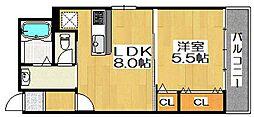 セントフェリオ堺[2階]の間取り