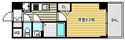 プレサンス北浜パレス[13階]の間取り