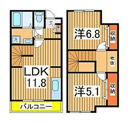 [テラスハウス] 千葉県我孫子市新木野1丁目 の賃貸【/】の間取り