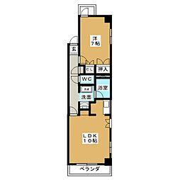 鶴舞ガーデンコート[2階]の間取り