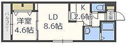 北海道札幌市東区北十条東3丁目の賃貸マンションの間取り