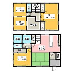 [一戸建] 静岡県浜松市東区大島町 の賃貸【/】の間取り