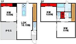 [一戸建] 福岡県福津市宮司浜2丁目 の賃貸【/】の間取り