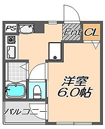 兵庫県神戸市灘区六甲台町の賃貸マンションの間取り