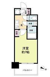 セレニテ福島カルム 2階1Kの間取り