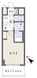 エスリードザ・ランドマーク神戸 11階1Kの間取り
