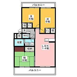 陶山第3ビル[2階]の間取り