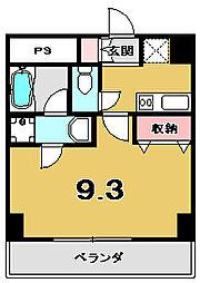 京都府京都市東山区東橋詰町の賃貸マンションの間取り