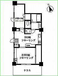 妙蓮寺マンション[106号室号室]の間取り
