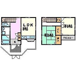 [一戸建] 兵庫県西宮市中前田町 の賃貸【/】の間取り