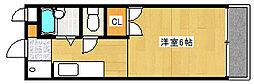兵庫県神戸市灘区烏帽子町3丁目の賃貸アパートの間取り