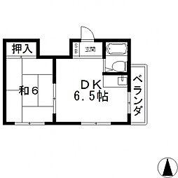 アミチェ永和[3B号室号室]の間取り