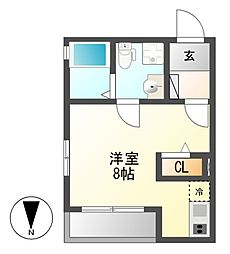 Plan Baim Atsuta Tenma[2階]の間取り
