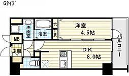 プレサンス堺筋本町フィリア[14階]の間取り