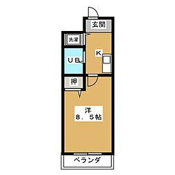 メロディハイム松原[7階]の間取り