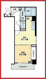 東京都北区田端新町1丁目の賃貸マンションの間取り
