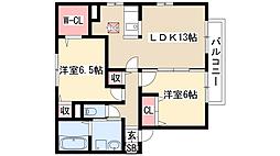 レジデンス神ノ倉 B棟[1階]の間取り
