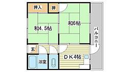 栄マンション[302号室]の間取り