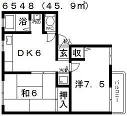 ソファレ藤ヶ丘[B201号室号室]の間取り