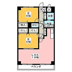 岩井通COSMOS[2階]の間取り