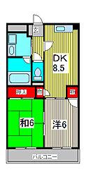 木村ビル[3階]の間取り
