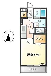 フジコーコ野田[1階]の間取り