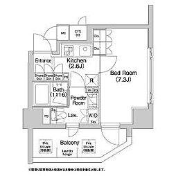 東京都新宿区岩戸町の賃貸マンションの間取り
