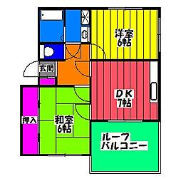 コーポ山浦[3階]の間取り