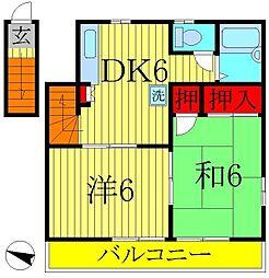 ユキハイツ[2階]の間取り