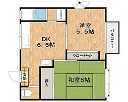 城西ハイツII[2階]の間取り