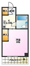 第3マンション久米[405号室]の間取り