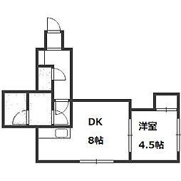 ベルツリー6・9[3階]の間取り