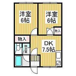 シティハイム大京[102号室]の間取り