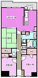 イングス法貴寺[2階]の間取り