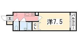 メゾンパルレ[603号室]の間取り