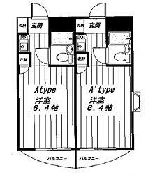 トレンタハウス八王子[2階]の間取り