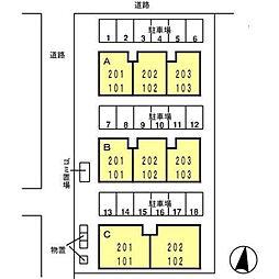 ロイヤルファミールII B[102号室]の外観
