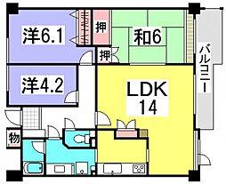 井口台東パークハウス[6階]の間取り