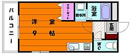 レジデンス大神2[2階]の間取り