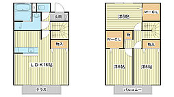 [テラスハウス] 兵庫県姫路市西庄 の賃貸【/】の間取り
