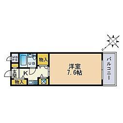 リバティー座間[1階]の間取り