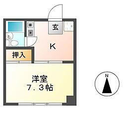 コーポスズキ B棟[1階]の間取り