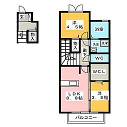 仮称ハートホーム上条[2階]の間取り