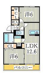 シャルート[2階]の間取り
